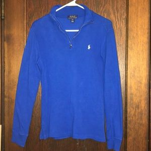 Boys Polo half zip sweater